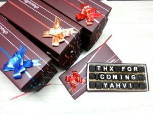 Return gift sms dark chocolates :)
